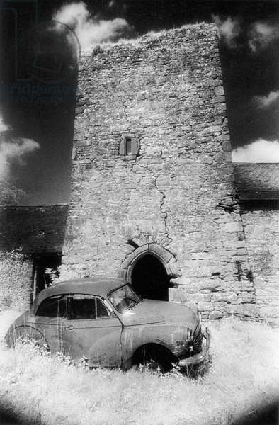 Ballybrit Castle, County Offaly (b/w photo)