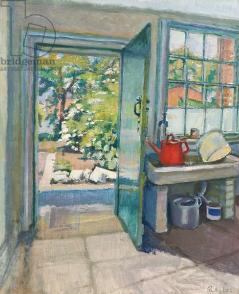 The Green Door, 1968 (oil on canvas)