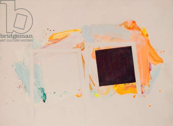 Acrylic/Paper January III 76, 1976 (acrylic and wax on paper)