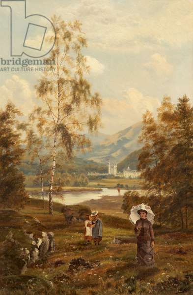 A Distant View of Balmoral (oil on canvas)