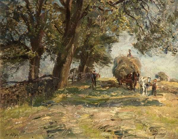 Hay Harvesting, c.1890-1920 (oil on canvas)