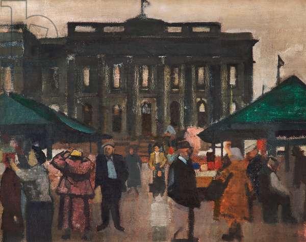 Ashton Market, c.1960 (oil on canvas)