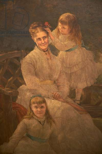 Family Group, c.1875-95 (oil on canvas)