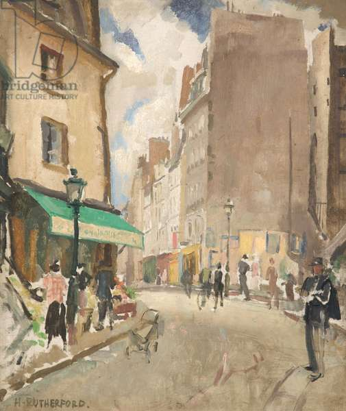 Paris Street Scene, c.1960 (oil on board)