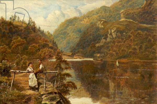 The Boat Pier, Loch Katrine (oil on canvas)