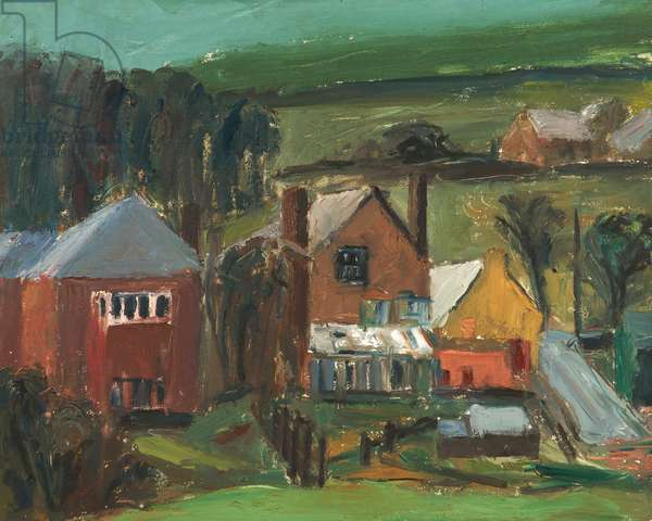 Rainy Day, Uppermill, 1955-9 (oil on board)