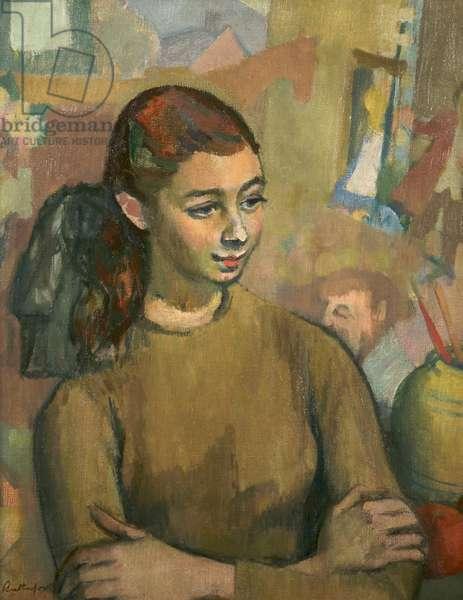 Portrait of Jean Hughes, c.1960 (oil on canvas)