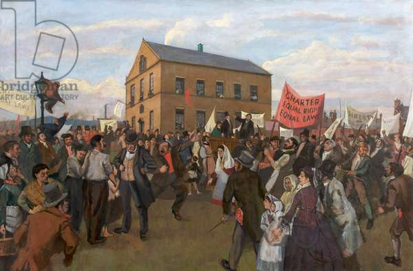 The Opening of the Chartists' Meeting House, Hyde, c.1960-70 (oil on canvas)