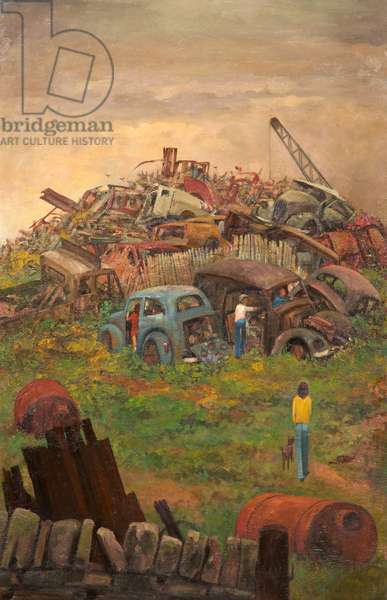 The Playground, Dunkinfield, 1971 (oil on wood)