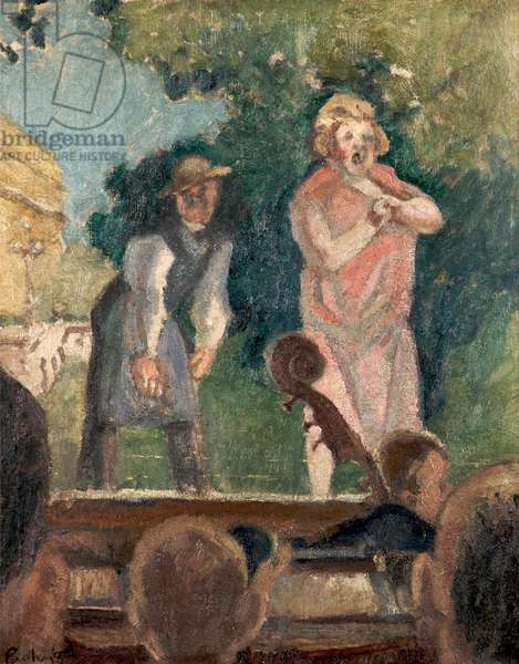 The Comedians (Hyde Theatre), c.1926 (oil on canvas)