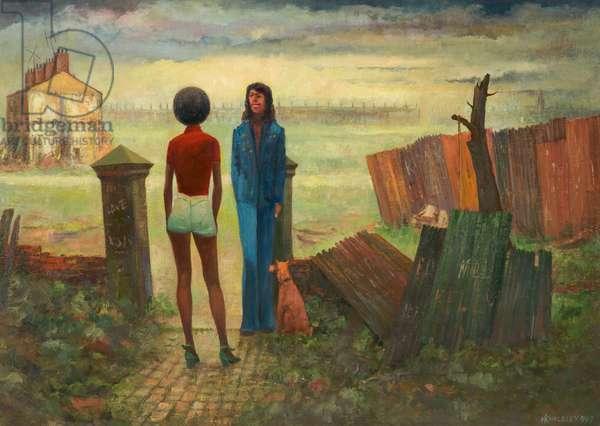 The Gateway, Moss Side 1967, 1967 (oil on board)