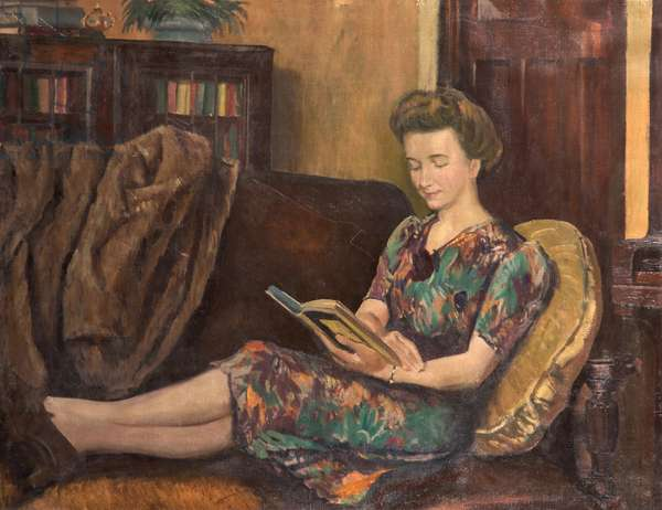 Portrait of Marion Rutherford, c.1950s (oil on canvas)
