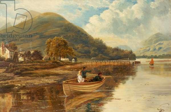 Luss, Loch Lomond (oil on canvas)