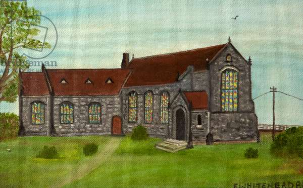 Dunkinfield Old Hall Congregational Chapel, 1980 (oil on board)
