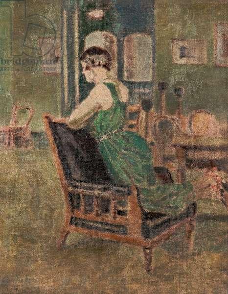 The Model, Sickert's Class, 1925 (oil on canvas)
