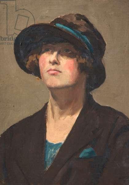 Portrait of a Woman, c.1920-35 (oil on board)