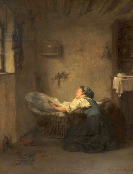 The Mother, 1868 (oil on panel)