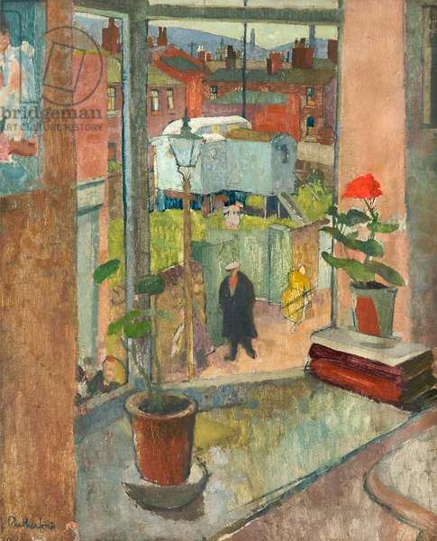 View from the Studio Window, Hyde, c.1952 (oil on board)