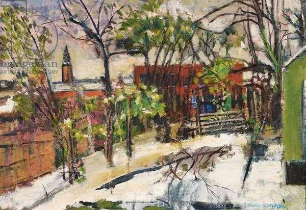 Winter, Stalybridge, c.1980-84 (oil on canvas)