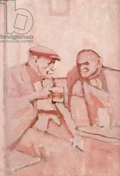 Tap Room, Hyde, 1978 (oil on board)