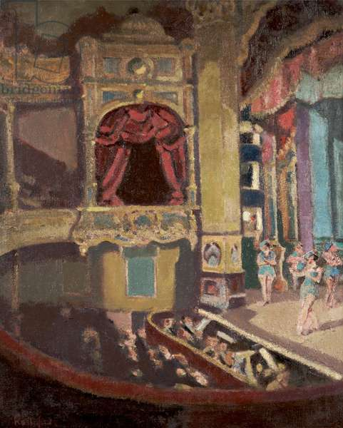 Theatre Royal, Hyde, Tameside, c.1926 (oil on canvas)
