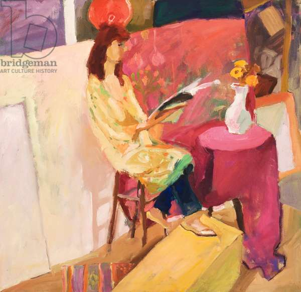 Model in Yellow Robe, 1983 (oil on canvas
