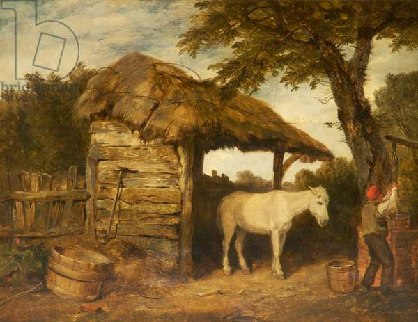 Rustic Shed, c.1800-47 (oil on canvas)