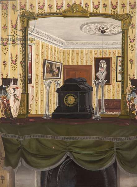 Interior - The Mantlepiece, c.1930-50 (oil on canvas)