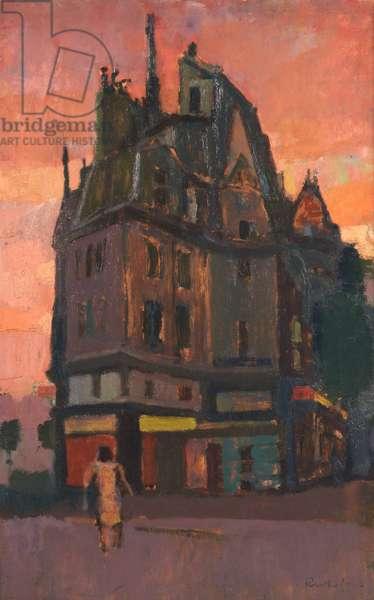 Rue des Arquebusiers, Paris, 1960 (oil on board)