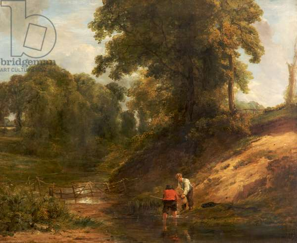 Boys Fishing, 1824 (oil on canvas)
