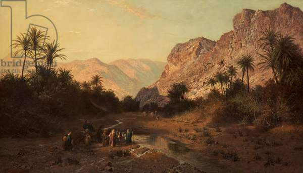Rephidim, Desert of Sinai, 1877 (oil on canvas)