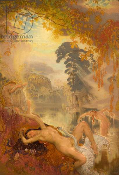 Leda and the Swan, 1928 (oil on canvas)