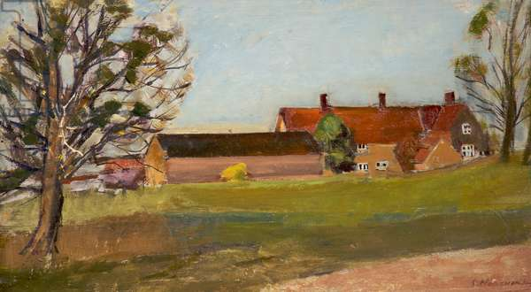 The Old Farm, Lancashire, c.1960-80 (oil on wood)