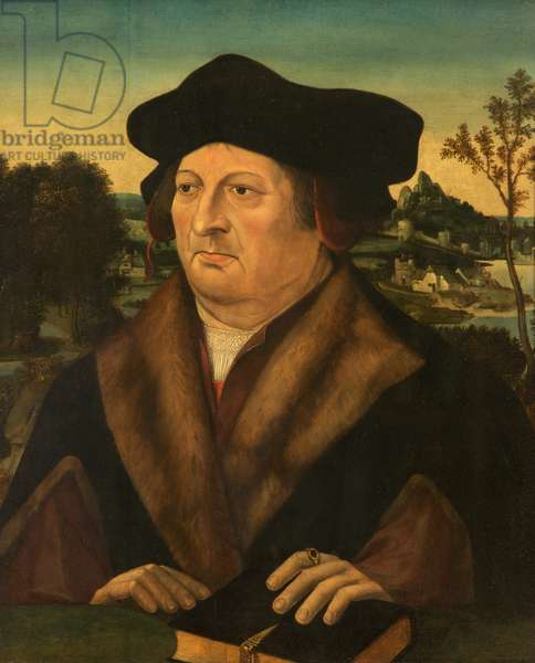 Portrait of a Gentleman in a Landscape (oil on canvas)