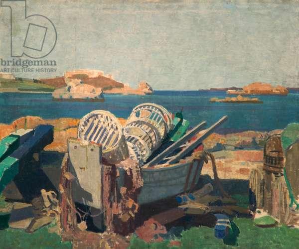 Fishing Gear, near Brittany, c.1920-30 (oil on canvas)