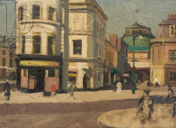 Street Scene (verso), c.1960s (oil on canvas)
