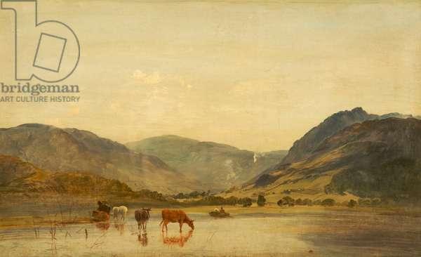 Lake Scene, c.1860-70 (oil on canvas)