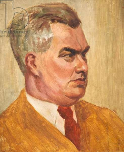 Self Portrait (oil on board)