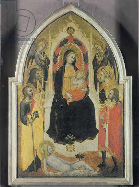 Virgin and Child with angels and saints, c.1390-95 (tempera on panel)