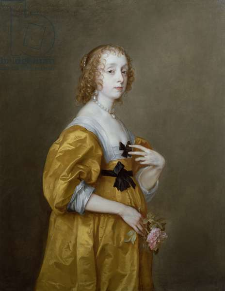 Portrait of Mary Villiers (1622-85) Lady Herbert of Shurland (oil on canvas)