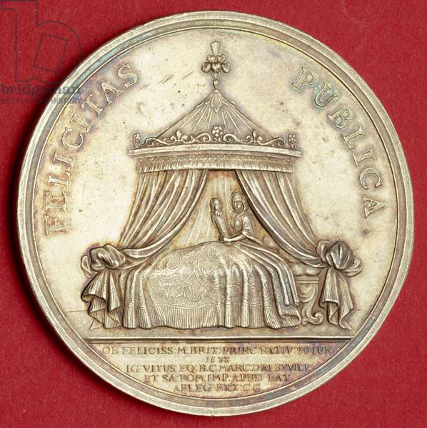Medal commemorating the birth of Prince James, 1688 (silver gilt)
