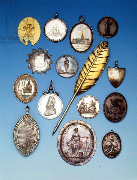 School Prize Medals, 18th and 19th centuries (metal)