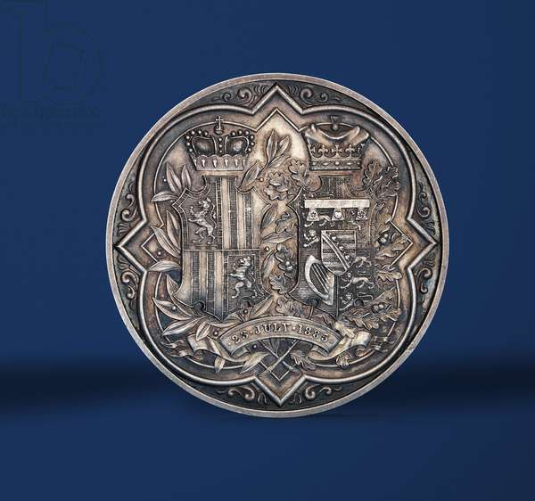 Medal commemorating the marriage of Princess Beatrice and Prince Henry of Battenberg, 1885 (silver) (reverse of 419673)