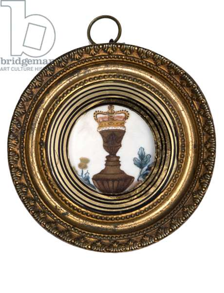 George III and Charlotte 'Puzzle of Portraits' plaque (w/c on ivory in gilt metal frame)