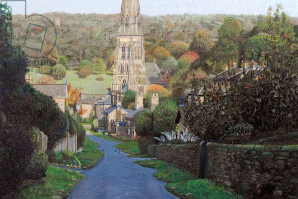Edensor, Chatsworth Prak, Derbyshire, 2009 (oil on canvas)