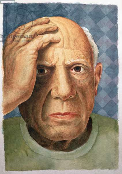 Picasso (1881-1973) (w/c + bodycolour on arches paper)