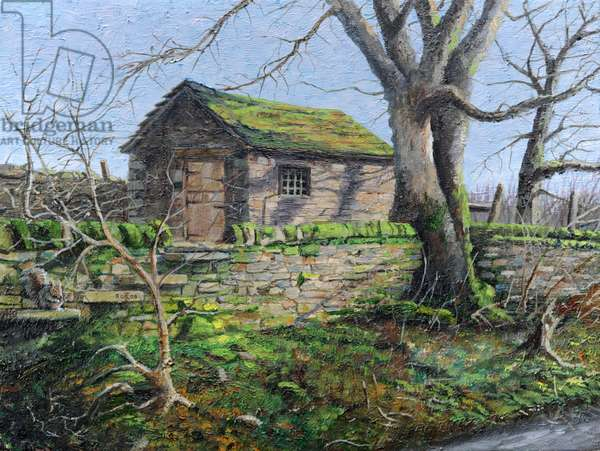 Stone Barn, Alport, Derbyshire, 2009 (oil on canvas)