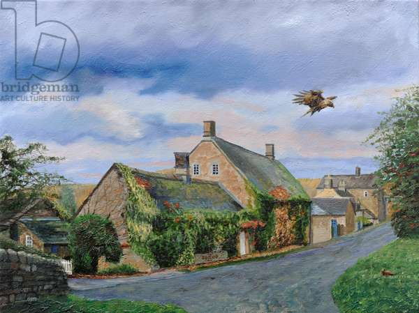 Ivy Cottage Beeley, Chatsworth, Derbyshire, 2009 (oil on canvas)