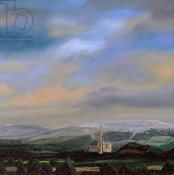 Cement Works, Hope Valley, Derbyshire, 2009 (oil on canvas)