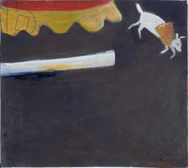 Super Dog, 2010 (oil on board)